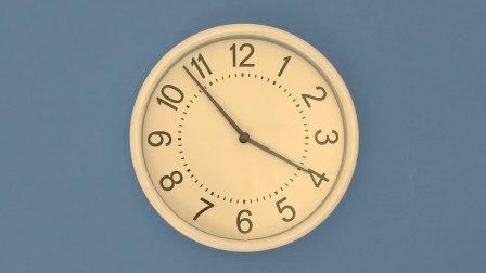 SPHJ-111-倒计时-怀旧滴答滴答时钟指针旋转变化时间推移倒计时LED视频素材