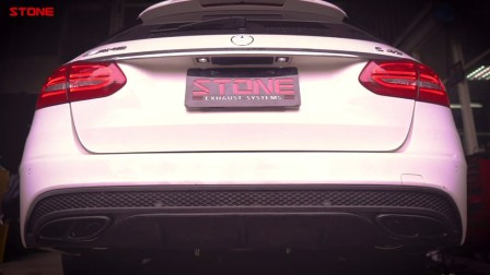 STONE(巨石)奔驰S205 M276 C43双电子阀门中尾段