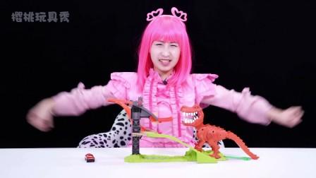美泰风火轮轨道玩具 恐龙轨道玩具