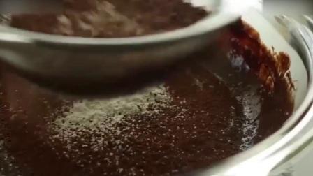 西点烘焙教程烘焙教学-半球巧克力熔岩蛋糕西点培训