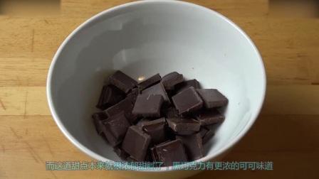 烘焙学习免烤巧克力芝士蛋糕, 喜欢可以试试哦! 自制奶油