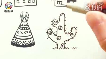 简笔画教程-3分钟教你12种超萌简笔画小房子,快来学新技能啦![鼓掌] Via画视频  ?