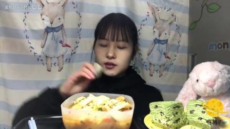 『吃播』豆花泡馍·腊汁肉夹馍·抹茶红豆千层_美食圈_生活