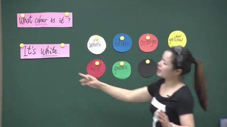 科普版小學英語三上《Lesson 9 What colour is the cap》江西彭明華