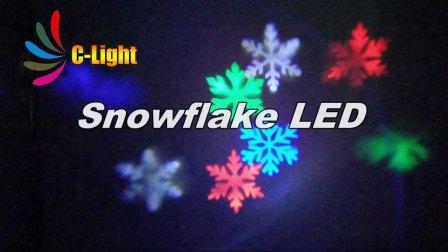 五光十色WL-601户外防水雪花投影灯led圣诞装饰庭院彩灯激光插地草坪舞台灯