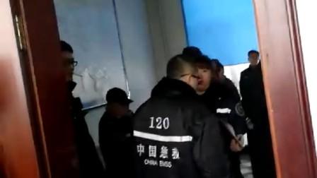 黑龙江省勃利县居民被热力公司人打了,120.110出警现场视频
