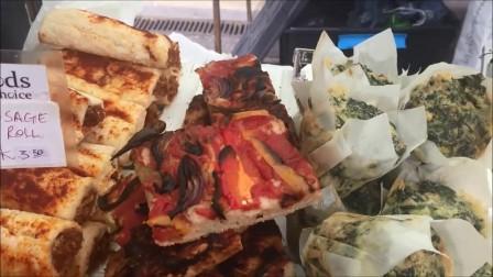 伦敦街头美食-有肉肉的披萨