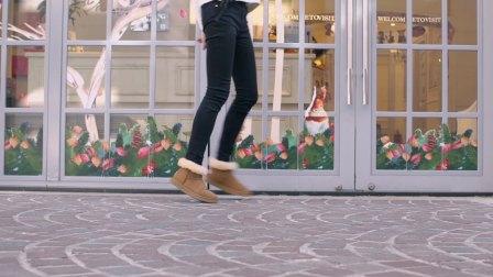 澳洲短筒羊皮毛雪地靴