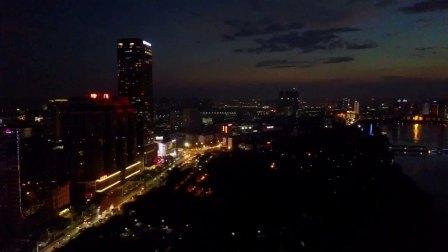 无人机航拍南宁市夜景