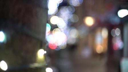 冬天灯光璀璨的温哥华