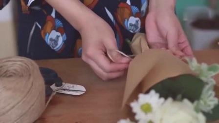 五月的鲜花 玫瑰花束图片 丝网花教程