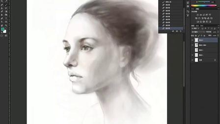 PS人物肖像绘画