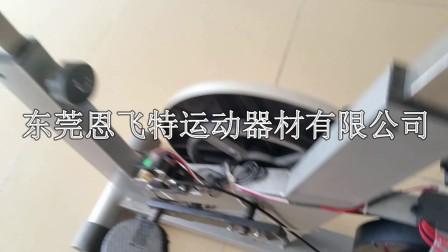 自发电健身车飞轮的安装演示
