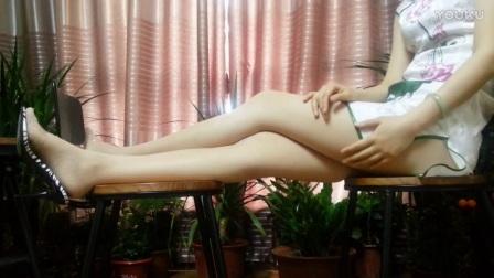 旗袍 肉色丝袜