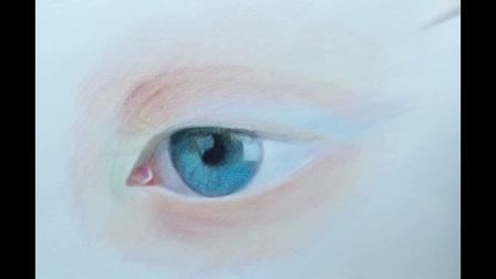 彩绘眼睛3 人物头像插画手绘