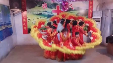 安峰安北教会舞蹈美丽的圣诞夜