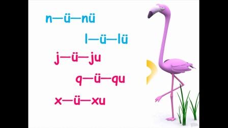 宁波市小学语文微课视频《j q x和ü的拼读》