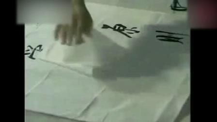 硬笔书法教学启功大师现场书法视频, 珍贵啊, 难得一见硬笔行书