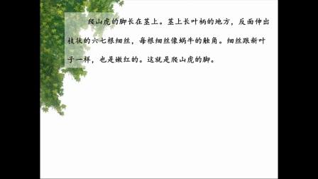 宁波市小学语文微课视频《爬山虎的脚》