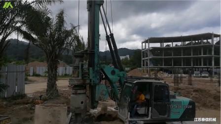 泰信机械KR80A小型旋挖钻机在泰国施工多年
