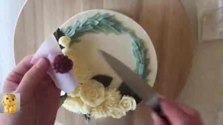 水果奶油蛋糕制作视频_10寸戚风蛋糕的做法9