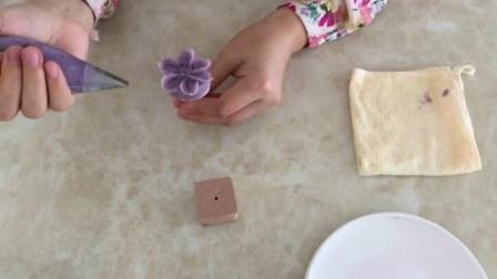蛋糕花篮裱花视频教程 简单奶油玫瑰花的挤法 学习裱花