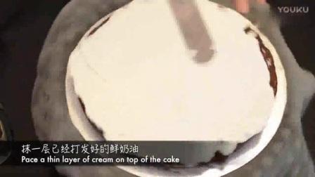抹圆型蛋糕胚之裱花蛋糕欧式蛋糕图片