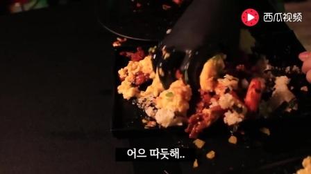 韩国小哥吃去骨鸡爪, 芙蓉蛋和海苔拌饭