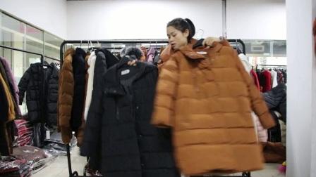 12.22-5服装批发女装批发新款时尚中长棉衣棉服特价走份22件一份