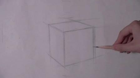 素描入门基础画正方形 结构素描基础教程视频 速写零基础教程