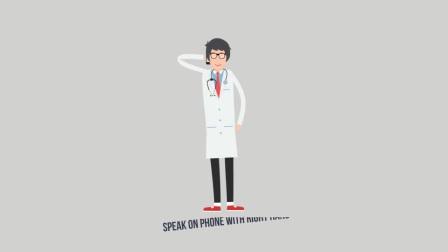 医院MG动画宣传视频AE模板医生护士卡通人物绑定诊所医疗设备场景-新浪微博@地底星空
