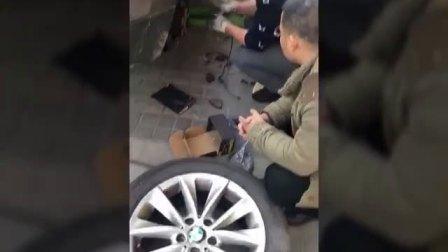 12.25【车主应用】宝马车主安装中力安陶瓷刹车片现场