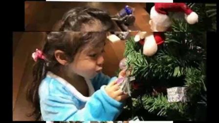 小泡芙与哥哥妹妹装饰圣诞树,认真投入的样子可爱到犯规!