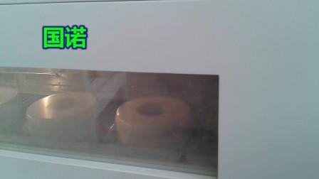 2018深圳-圆柱形产品自动热收缩膜包装机套膜包装机