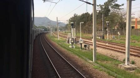 Z100港铁东铁线 上水站通过(窗外视角)
