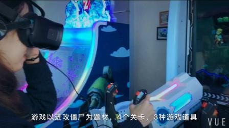雄翔科技2017新款VR视觉分屏模式打僵尸游戏模拟实感射击亲子游艺机65寸VR战车
