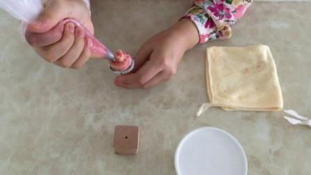 裱花的基础手法 蛋糕裱花大全 裱花寿桃挤法教学过程
