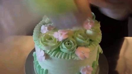 蛋糕裱花基础视频 生日蛋糕裱花寿桃
