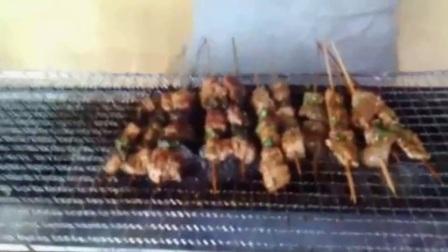 烧烤技术学习 烧烤教程 烤鸡腿 烤羊肉串 烤鱿鱼