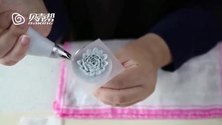 抹蛋糕胚技巧视频教程 裱花学习 豆沙裱花视频