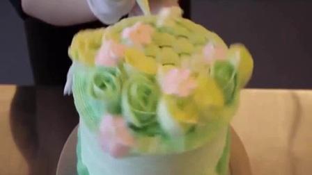 蛋糕裱花视 奶油蛋糕裱花新手视频教程 水果蛋糕裱花创意