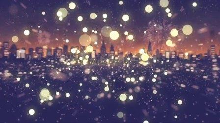 唯美绚丽烟花粒子生日快乐祝福开场视频片头ae模板 生日视频