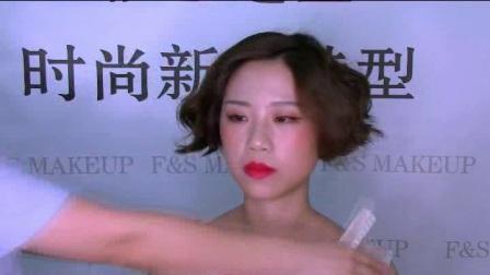 婚纱照新娘发型66新娘短发造型