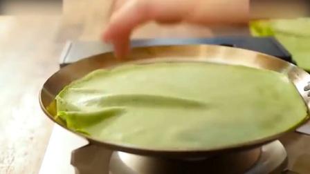 烘焙视频清新香甜的抹茶千层蛋糕, 喜欢可以试试哦! 自制奶油