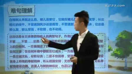 004 程宇-白杨 小学五年级语文下册人教版需要全册请联系QQ1401430975