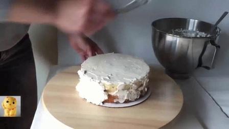 香蕉巧克力戚风蛋糕 电烤箱制作戚风蛋糕