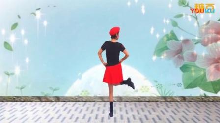 陈雪广场舞 锡林郭勒的星星 水兵舞 背面