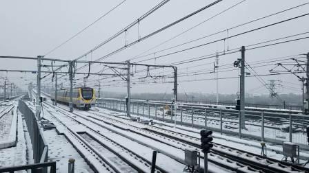 南京地铁S9号线宁高线翔宇路南雪中出站