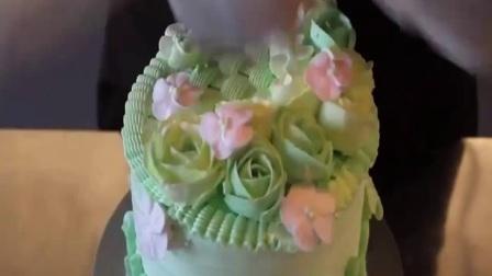 韩式裱花各种花朵图解 裱花教学视频 简单蛋糕裱花手法