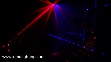 六眼扫描图案激光灯扇形激光